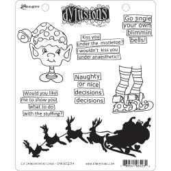 Dylusions Cling Stamp - Elf improvement class