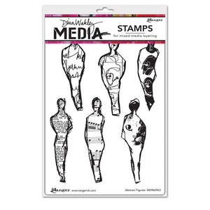 Dina Wakley cling stamp - Abstract figures