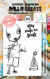 AALL&Create stamp set #87 - Gabriel by Fiona Paltridge