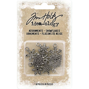 Tim Holtz idea-ology - Christmas snowflakes adornments