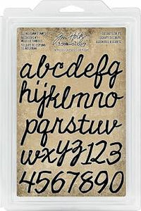 Tim Holtz idea-ology cling foam stamps - Cutout script
