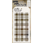 Tim Holtz layering stencil - Plaid