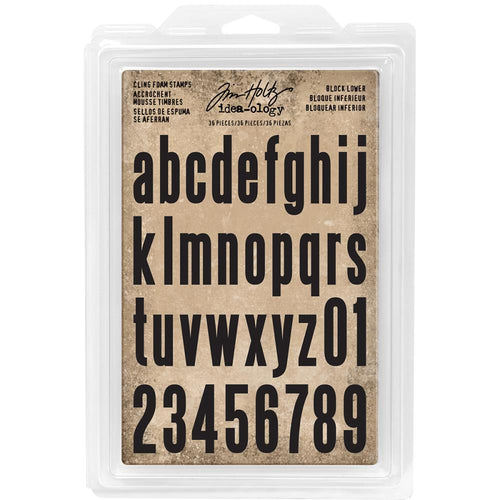 Tim Holtz idea-ology cling foam stamps - Block lower