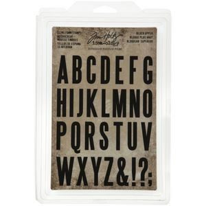 Tim Holtz idea-ology cling foam stamps - Block upper