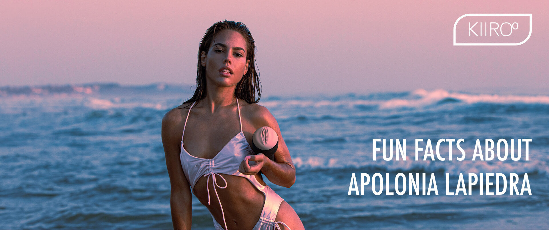 Apolonia Lapiedra on the beach with FeelApolonia stroker
