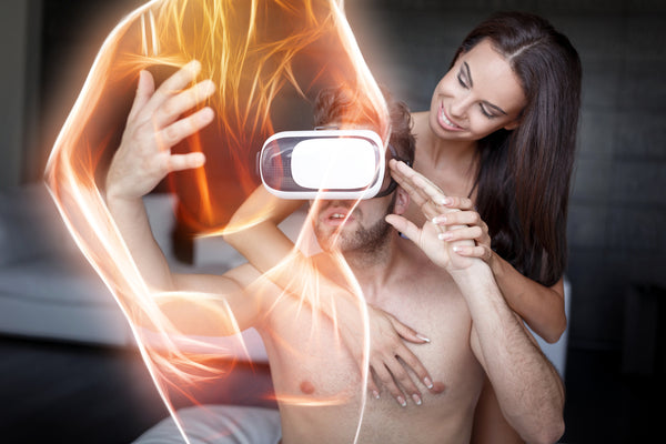 couples enjoy virtual reality sex Kiiroo
