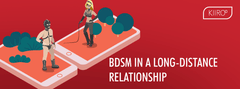 two people dressed up for bdsm in a long distance relationship