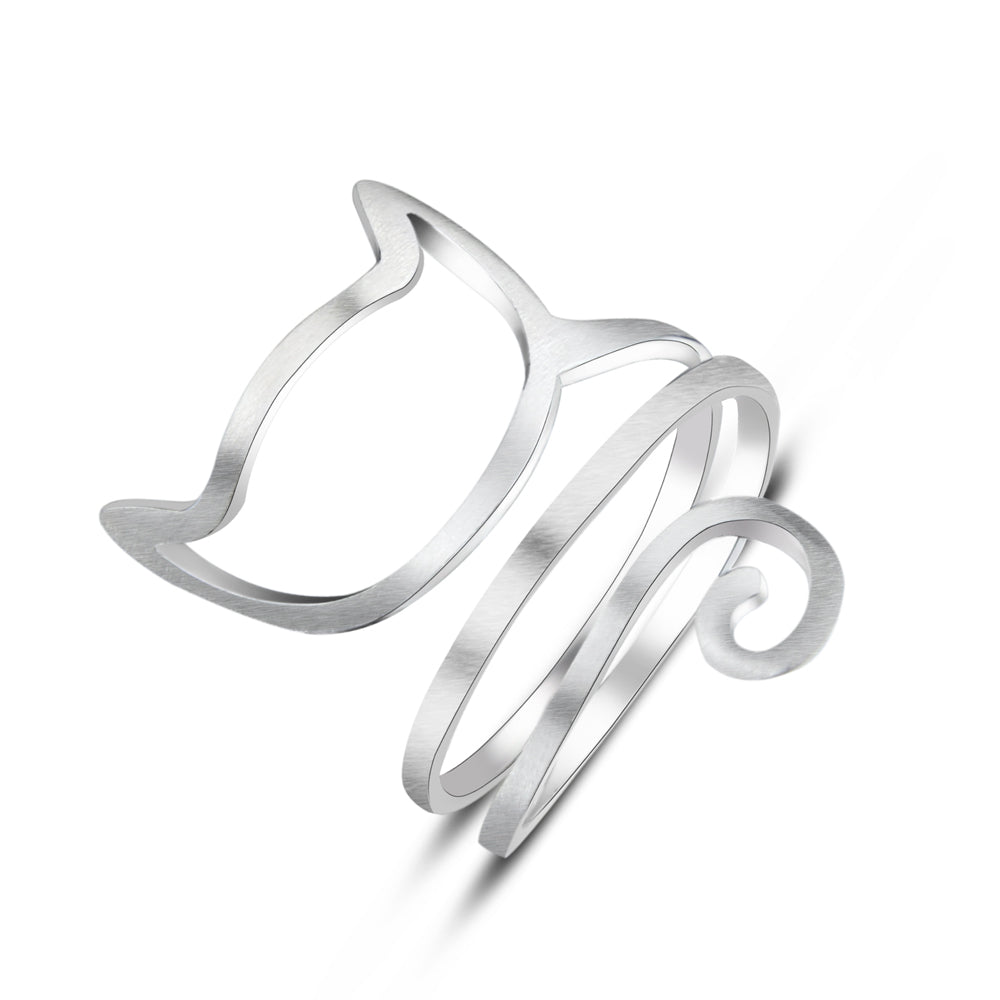 Sterling Silver Cat Ring  (FREE SHIPPING)