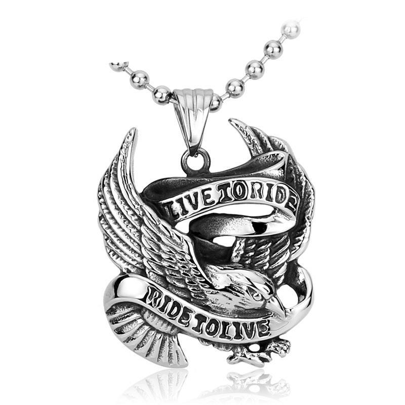 "Bold and Edgy Biker Jewelry ""Live To Ride"" Necklace (FREE SHIPPING)"