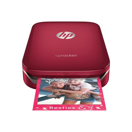 HP - Sprocket Photo Printer - Red