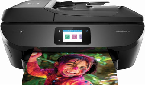 HP - ENVY Photo 7855 Wireless All-In-One Instant Ink Ready Printer - Black