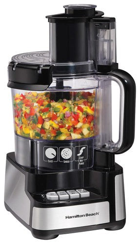 Hamilton Beach - Stack & Snap 12-Cup Food Processor - Black