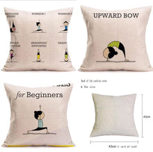 Load image into Gallery viewer, Yoga Poses Pillow Covers, 4 design