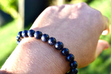 Load image into Gallery viewer, Blue Sandstone or Goldstone 6mm Unisex Bracelet