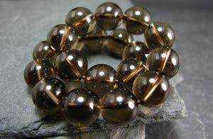 Smoky Quartz 10mm Round Beads