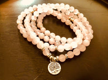 Load image into Gallery viewer, Buddhist Rose Quartz Mala Bracelet/Necklace (108 beads