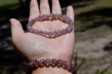 Load image into Gallery viewer, Auralite Semi Precious Stone Elasticated Bracelet  • Genuine Natural 8mm Auralite Bead