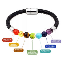 Load image into Gallery viewer, Genuine Leather & Crystals Bracelets