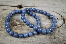 Load image into Gallery viewer, Handmade stretchable bracelet from 10mm Blue coral beads.