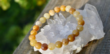 Load image into Gallery viewer, Amazing Golden Silky Jade Bracelet 8mm
