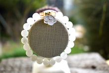 Load image into Gallery viewer, White Jade And Flower Bracelet ,Pure Love💕
