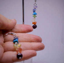 Load image into Gallery viewer, 7 Chakras Real Gemstones Earring