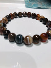 Load image into Gallery viewer, Natural Botswana 8mm Unisex Bracelet