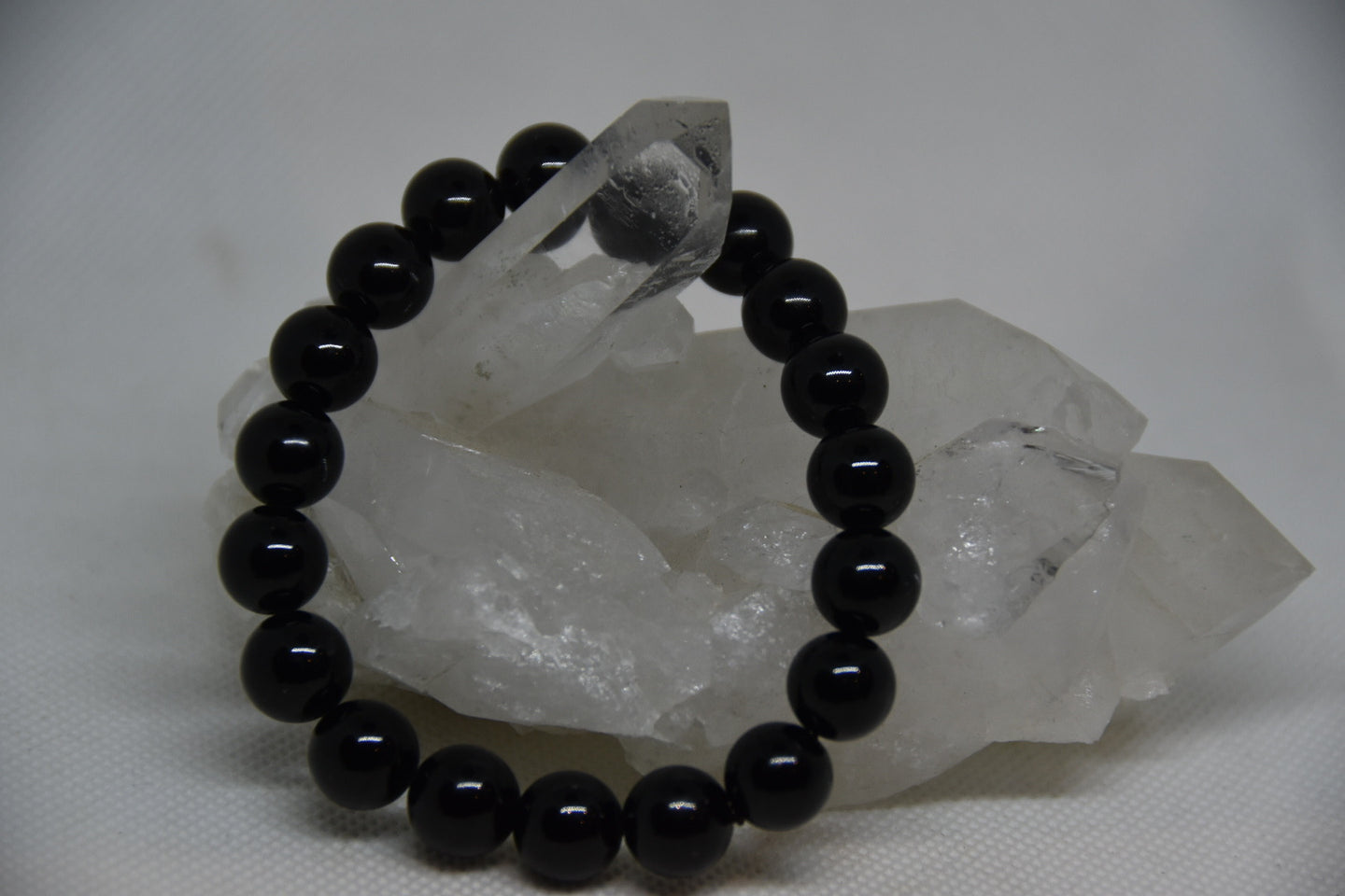 Black 10mm Tourmaline Bracelet