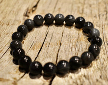 Load image into Gallery viewer, 10mm Rainbow Obsidian Unisex Bracelet