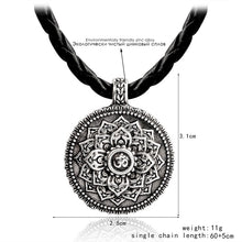 Load image into Gallery viewer, Unisex Mandala and Ohm  symbol pendant