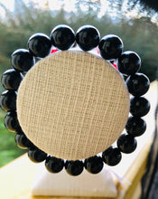 Load image into Gallery viewer, Black 10mm Tourmaline Bracelet
