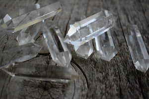 Natural Clear Double Point Quartz White Crystal
