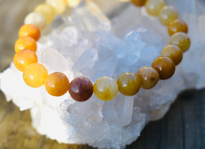 Amazing Golden Silky Jade Bracelet 8mm