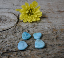 Load image into Gallery viewer, Natural Larimar Heart Shape Smooth Cabochon