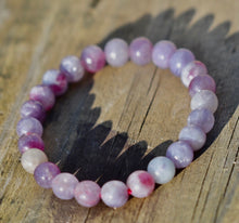 Load image into Gallery viewer, Pink Tourmaline 7mm Bracelet