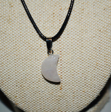 Load image into Gallery viewer, Rose quartz crescent moon Necklace