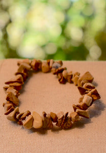 NATURAL PICTURE JASPER STONE GEMSTONE STRETCHY CHIP BRACELET