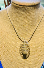 Load image into Gallery viewer, Crystals Cage Holder Sterling 925 Silver Chain Necklace