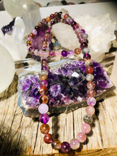 Load image into Gallery viewer, STUNNING NECKLACE AMETHYST CACOXENITE OR SUPER 7 A MUST TO HAVE!