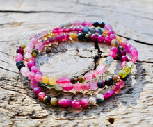 Load image into Gallery viewer, Rainbow Tourmaline Crystal Bracelet