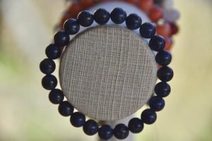 Lapis Lazuli Elastic Bracelet (Serenity • Awareness •Deepens Your Meditation)
