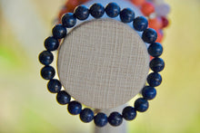 Load image into Gallery viewer, Lapis Lazuli Elastic Bracelet (Serenity • Awareness •Deepens Your Meditation)