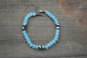Unique and Beautiful Soapstone and crystals beads Bracelet