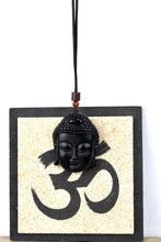 Load image into Gallery viewer, UNISEX NATURAL BLACK OBSIDIAN BUDDHA HEAD PENDANT NECKLACE