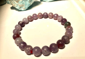 Genuine Lepidolite 6mm Bracelet