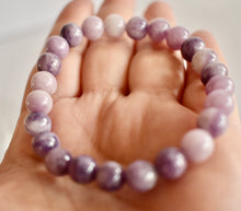 Load image into Gallery viewer, Lilac Lepidolite 8mm Bracelet