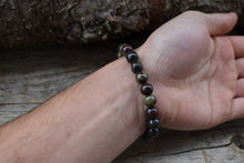 Load image into Gallery viewer, Dragon Blood Jasper beads 8 mm protection bracelet