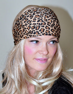 Leopard Striped Yoga Headband