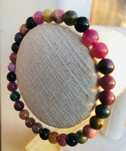 Load image into Gallery viewer, STUNNING MIXED TOURMALINE BRACELET 6mm