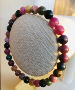 STUNNING MIXED TOURMALINE BRACELET 6mm